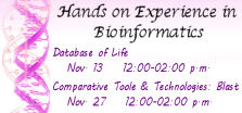Hands on Experience in Bioinformatics