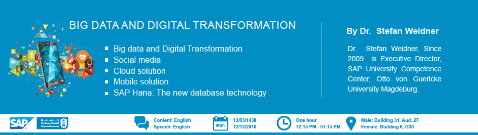 Big Data and Digital Transformation - Big Data and Digital Transformation